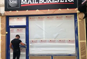 on site respray of mail boxes ltd shop