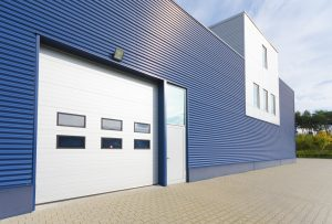 on site resprayed industrial unit cladding