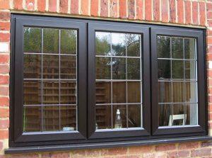 on site respray of upvc window in black