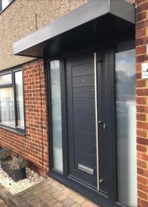 on site respray of upvc windows and front door in black
