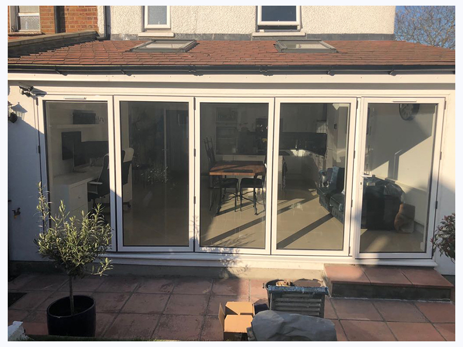 pvc bi fold door respray before