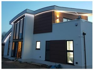 detached house rendered in london white