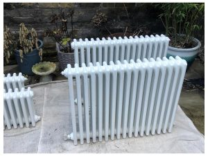 cast iron radiators resprayed white